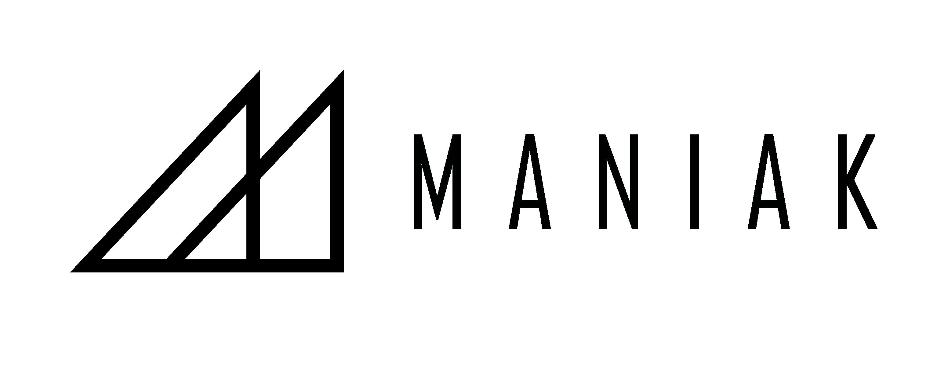 Maniak black horizontal logo rvb